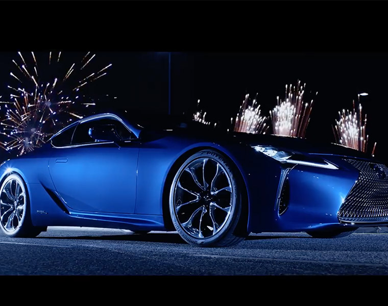 Lexus Hybrid UK spot with pyrotechnics