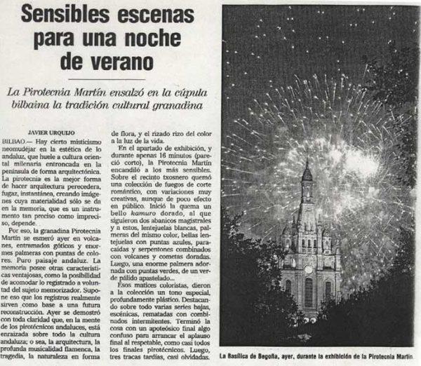 Fireworks display during ASTE NAGUSIA